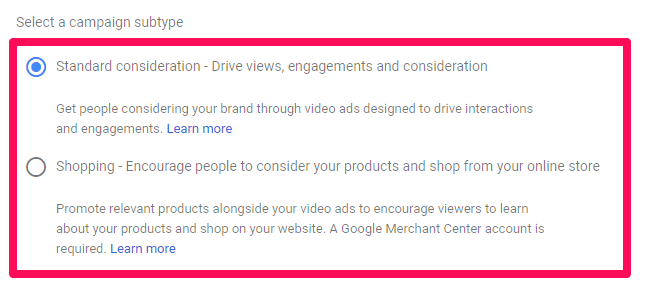 AdWords custom intent audiences
