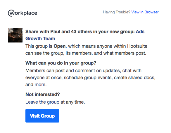 Workplace by Facebook - collaboration