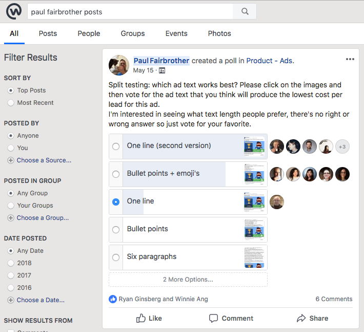 Workplace by Facebook - poll