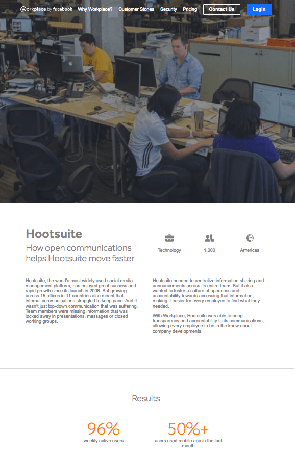 Workplace by Facebook - case study