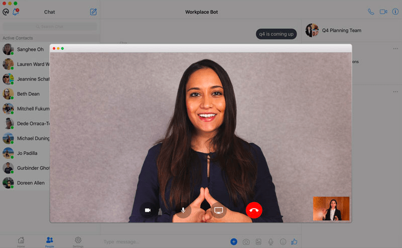 Workplace by Facebook - video call