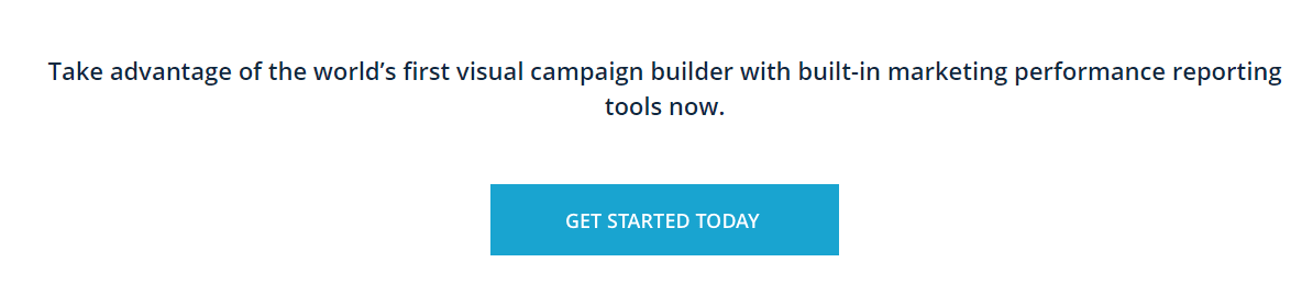call to action on landing page