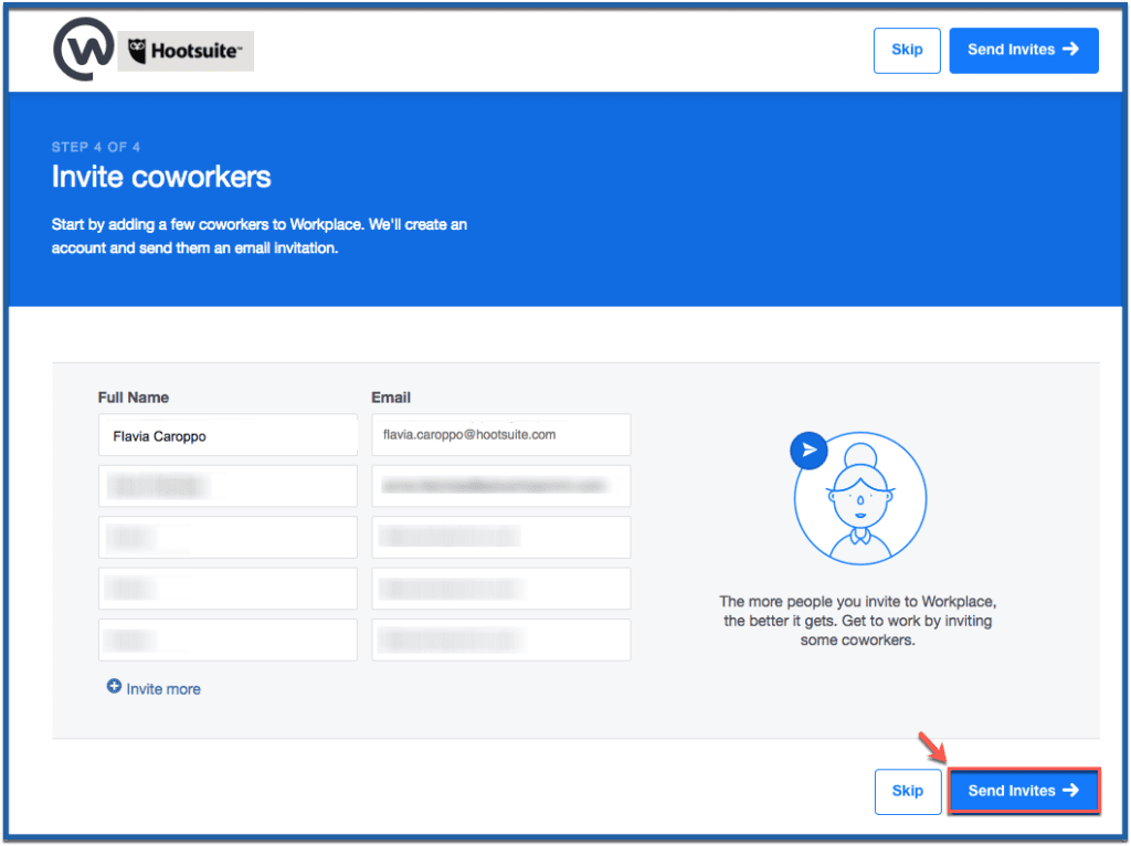 Workplace by Facebook - setup invite people