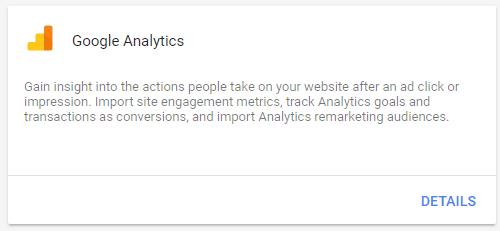 linking google analytics to adwords