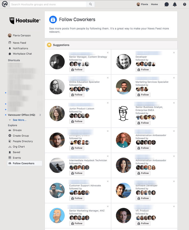 Workplace by Facebook - follow