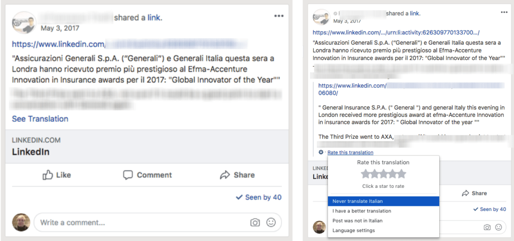 workplace by facebook translation