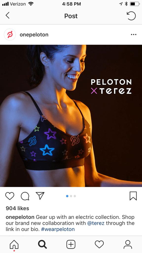 Startups on Instagram - peloton