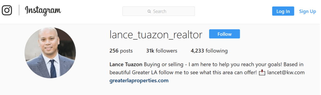 Real Estate Agent Instagram Bio