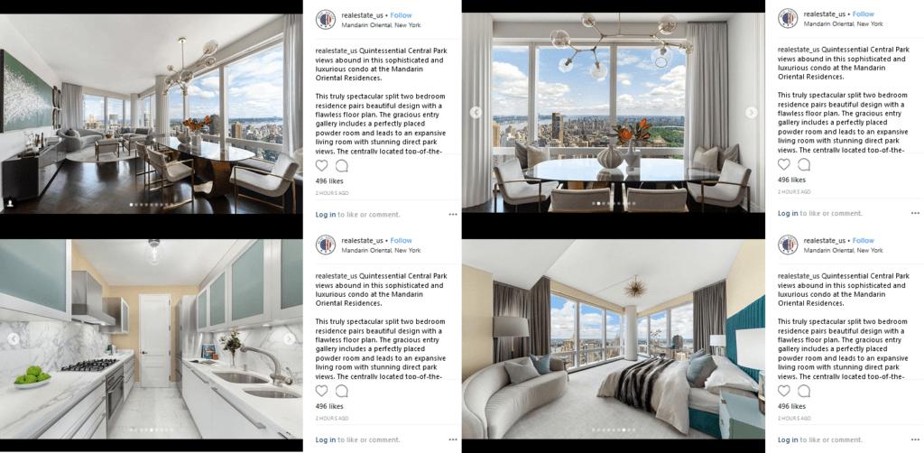 Instagram for real estates