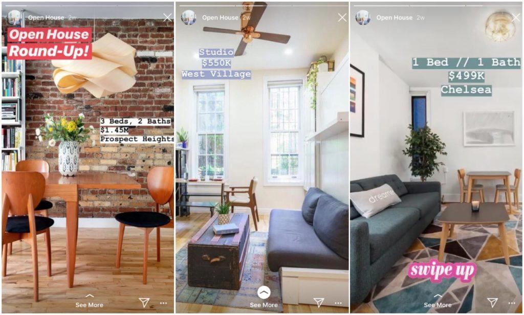 Startups on Instagram - real estates