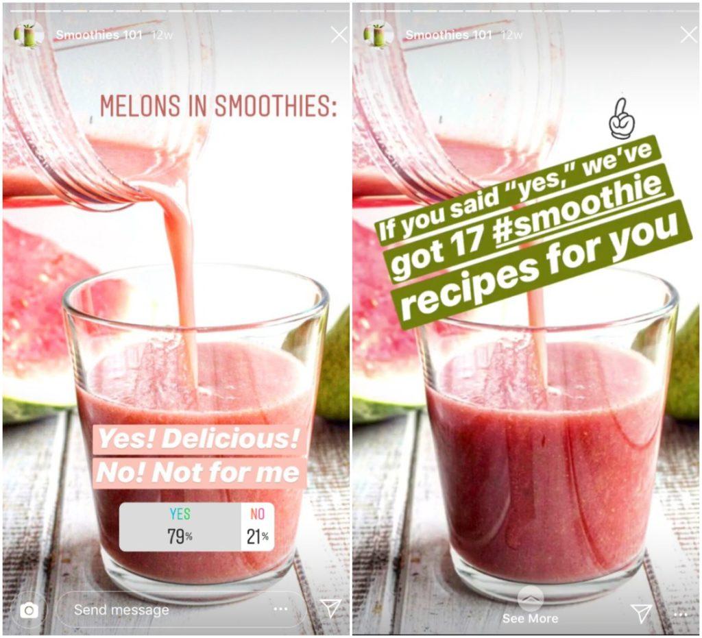 Startups on Instagram - food and beverage
