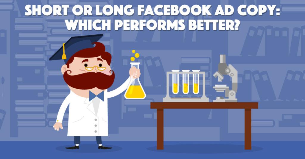 facebook ad copy length - adespresso experiment