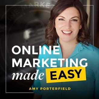 Amy Porterfield's Online Marketing Made Easy logo.