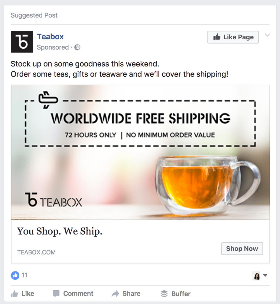 facebook ads cta example