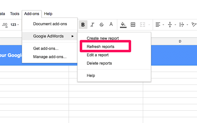 Google-Sheet-Add-ons-refresh-reports