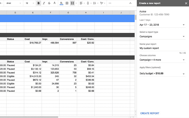 Google-Sheets-Create-a-new-report