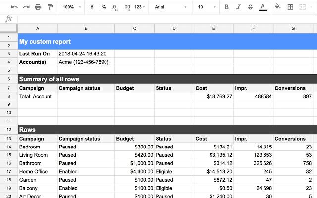 Google-Sheet-Integration-Custom-Report