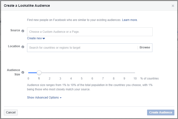 facebook ads lookalike audience feature