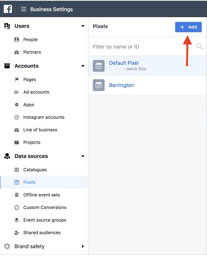 Facebook pixel installation