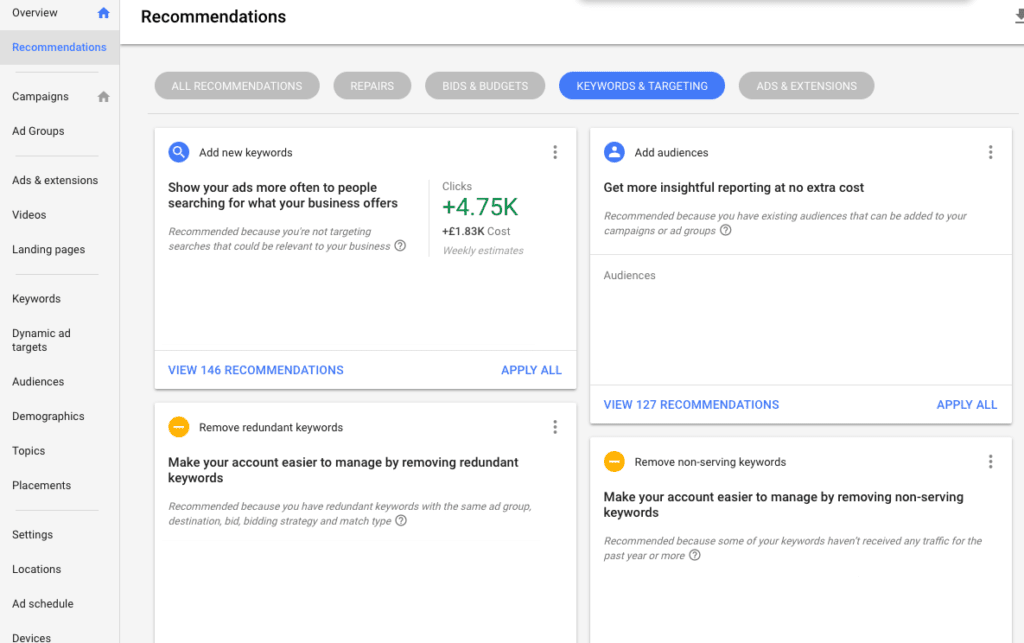 How to Use Google Ads Suggestions to Improve Conversion