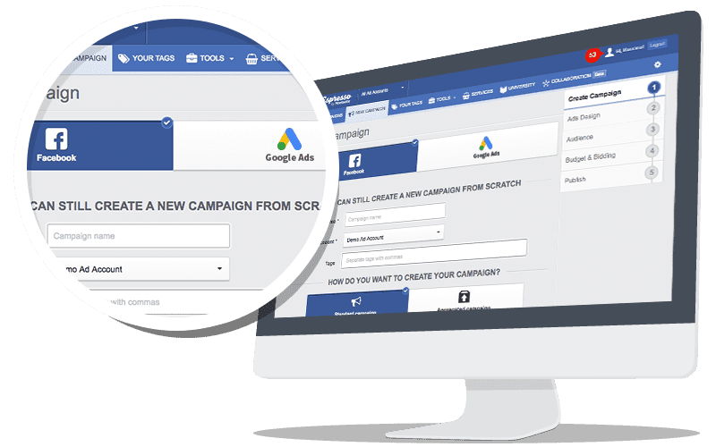 Create Campaign Facebook Adwords