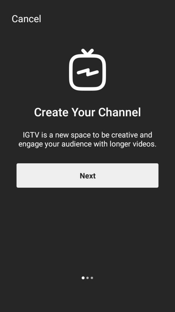 IGTV Intro Page Slide 1