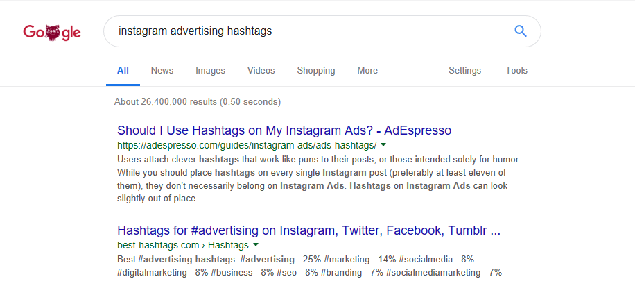 Instagram Hashtags Strategy research 1