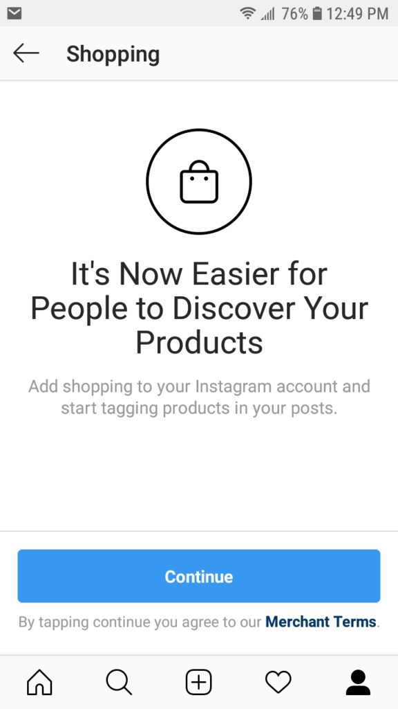 Product tags Instagram ecommerce