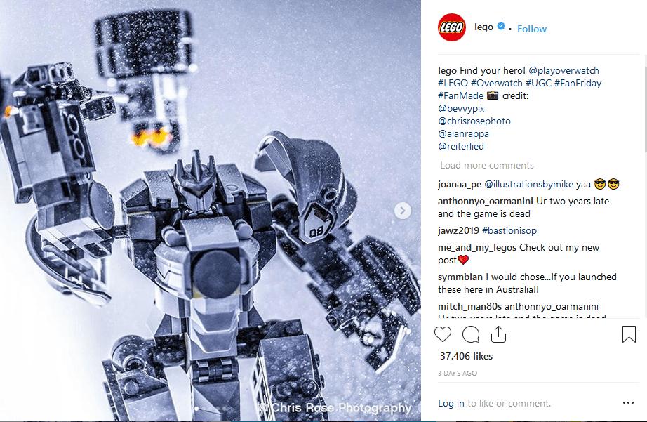 Lego Instagram ecommerce