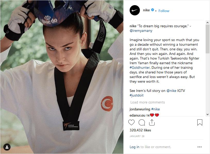 Nike Instagram ecommerce