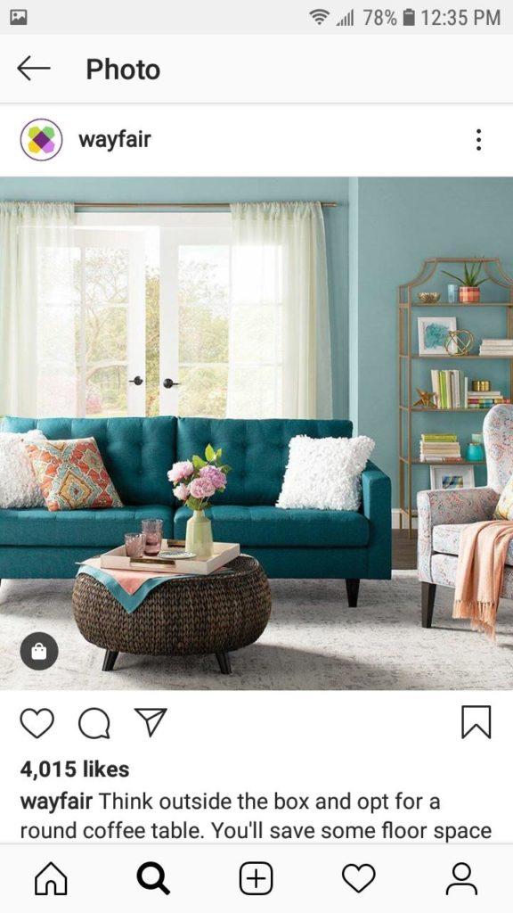 Wayfair shopping Instagram ecommerce