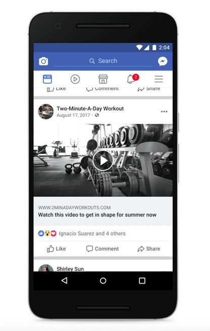 Facebook clickbait example