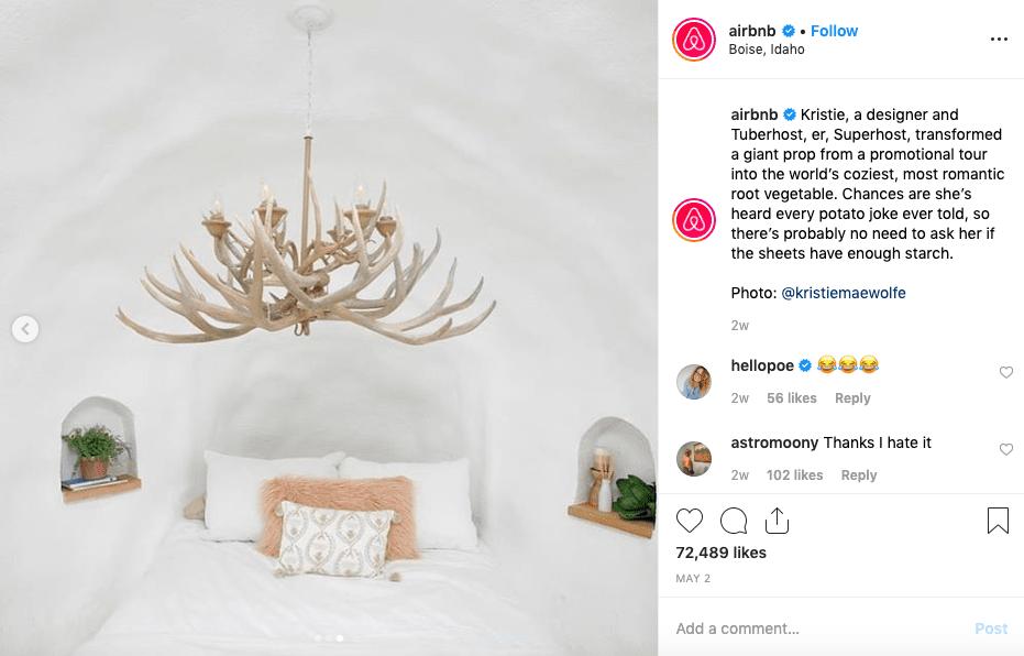 Airbnb Instagram image