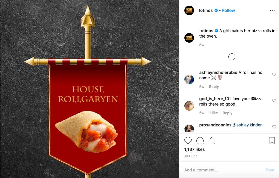 Totino's Instagram Image