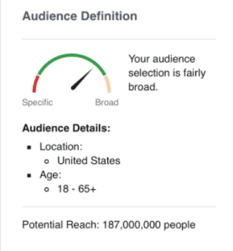 Broad audience targeting on Facebook - lead magnets