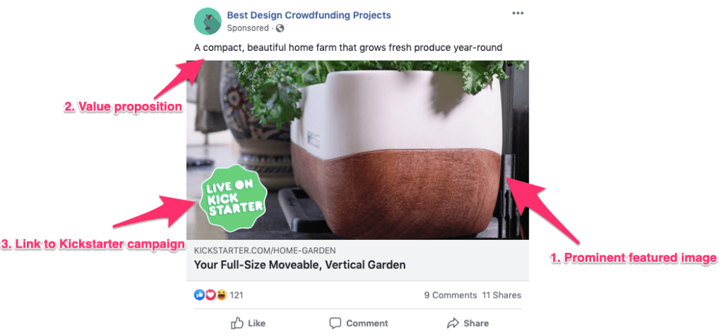 Product Launch Facebook Ad Template