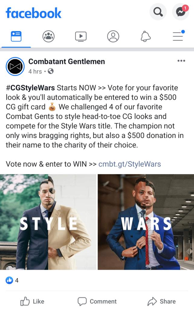 Facebook Offer Ads - Contest offer ad