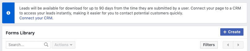 Creating a Facebook lead ad 6