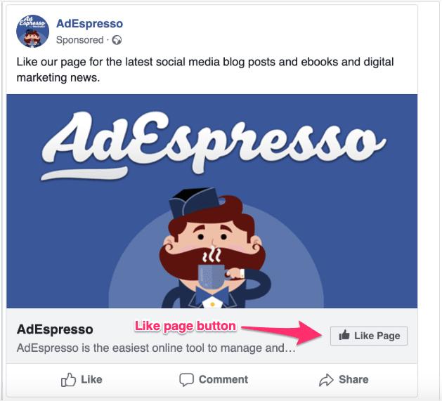 Facebook like ad