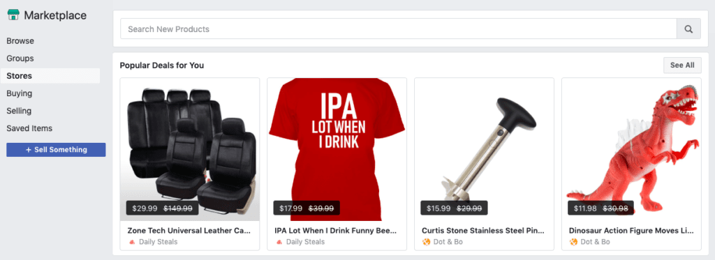 Facebook Marketplace recommendations