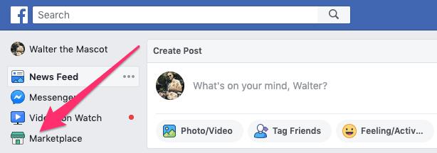 Facebook Marketplace option