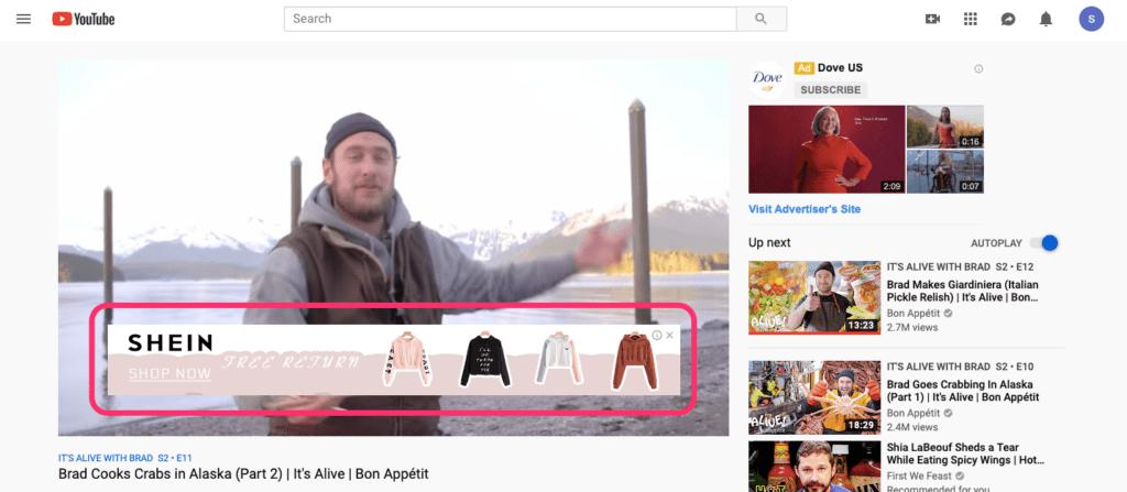Overlay YouTube Ad Image Size