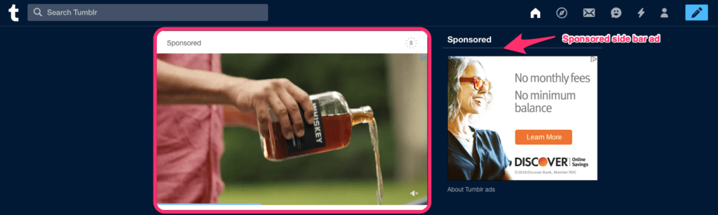 Tumble Ad Image Size