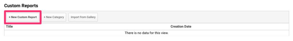 Google Analytics create new report