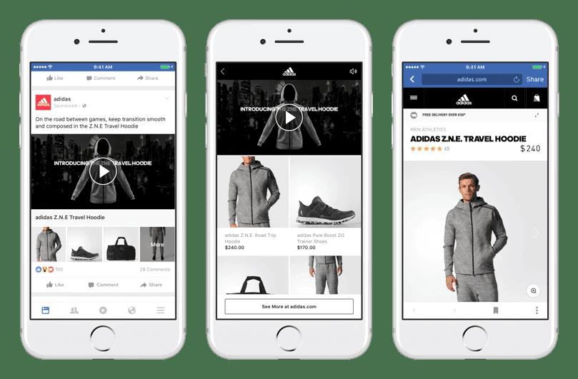 Adidas Facebook collection ad