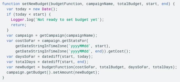 flexible budgets google ads script