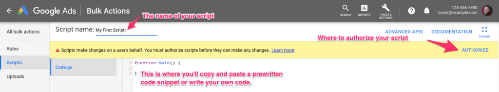 creating a google ads script 3