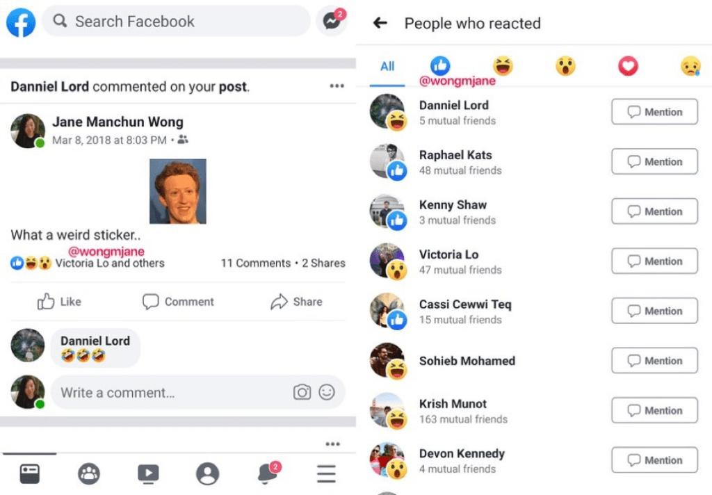 Hiding Facebook likes