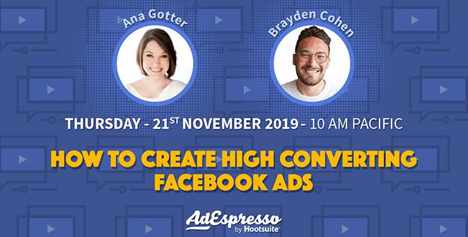 AdEspresso webinar create high converting Facebook ads
