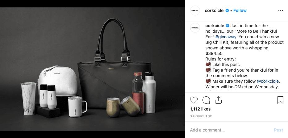 Corckcicle instagram giveaway